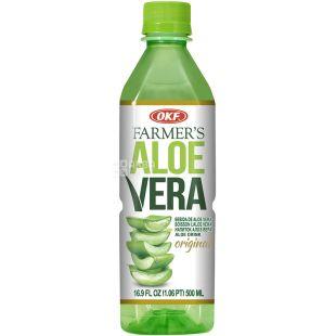 OKF Farmer's Aloe Vera Original, 0.5 L, non-carbonated juice drink based on aloe juice and pulp