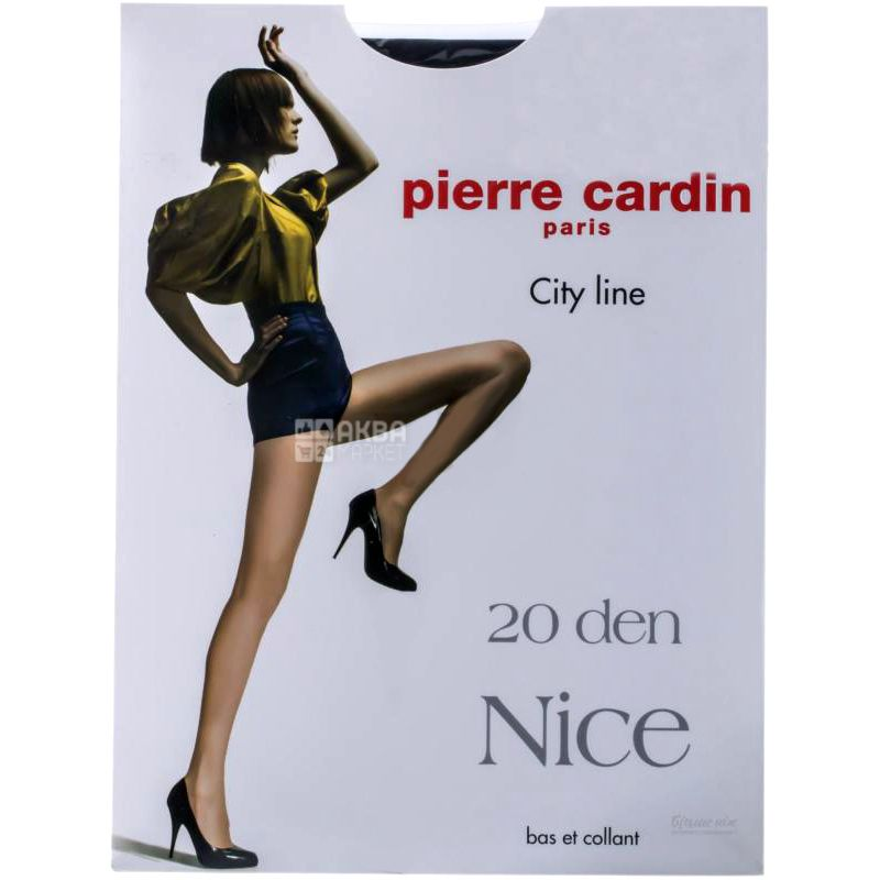 Pierre Cardin Nice, Tights, 20 Den, Black, Size 3