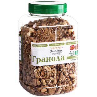 Oats & Honey, 454 г, Гранола Оетс енд Хані, мед, вівсяні пластівці, волоський горіх, мигдаль, арахіс, фундук
