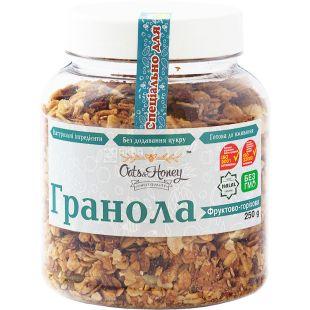 Oats & Honey, 250 г, Гранола Оетс енд Хані, мед, вівсяні пластівці, волоський горіх, мигдаль, арахіс, фундук