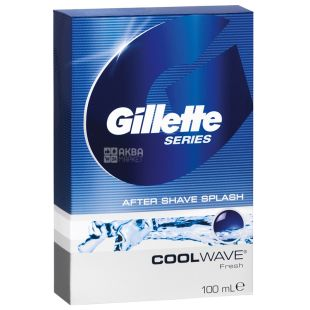 Gillette, Лосьон после бритья, Свежий, Cool Wave, 100 мл