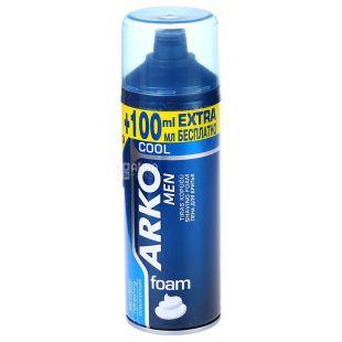 Arko Cool, Піна для гоління, Освіжаюча, 200 мл + 100 мл