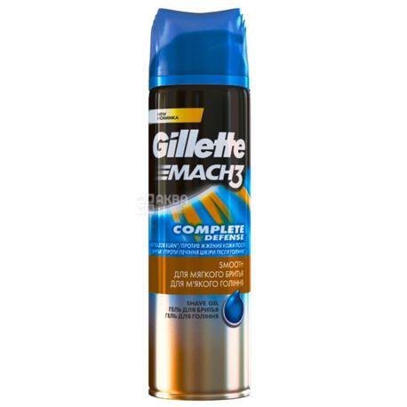 Gillette Mach3 Close & Smooth, Гель для бритья, 200 мл