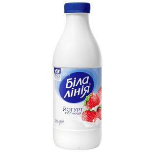 Белая Линия, Йогурт питьевой, Клубника, 1,5%, 900 г