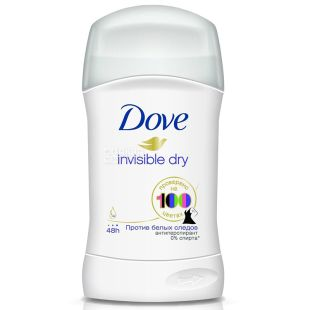 Dove Invisible Dry, Антиперспирант-карандаш, 40 мл
