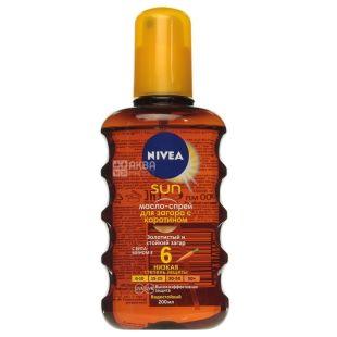 Nivea Sun SPF6, Масло-спрей для загара увлажняющее, 150 мл