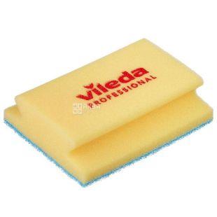 Sponge for a bathroom, blue abrasive, 14 x 18 cm, TM Vileda