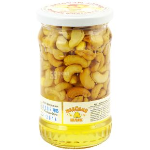 Honey dessert with cashew nuts, 370 g, TM Medoviy Shlyakh