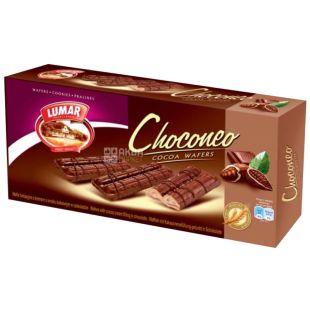 Вафельные палочки, Чоконео какао  с кремом со вкусом шоколада, 180 г, ТМ Lumar