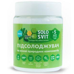 Підсолоджувач в 5 разів солодший цукру, 200 г, ТМ SoloSvit
