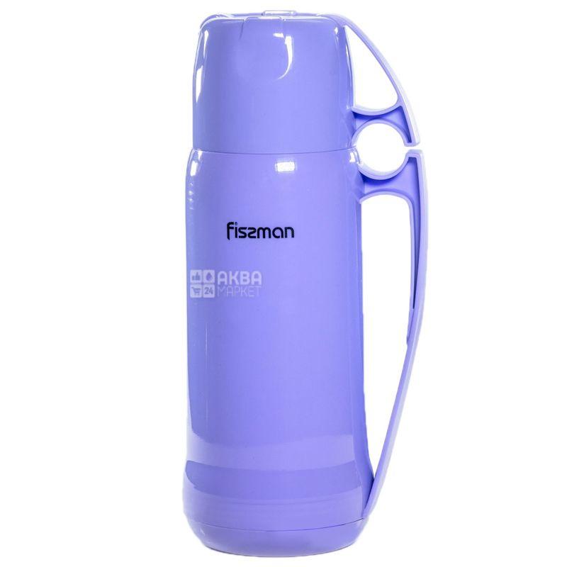 Fissman, Термос Фіолетовий, скляна колба, 0,6 л