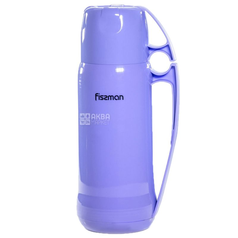 Fissman, Термос Фиолетовый,  стеклянная колба, 0,6 л