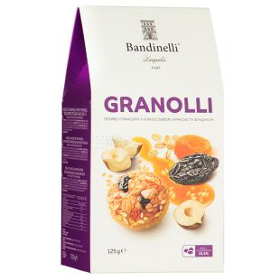Bandinelli Granolli, Dried Apricots, Prunes and Hazelnut Cookies, 125 g
