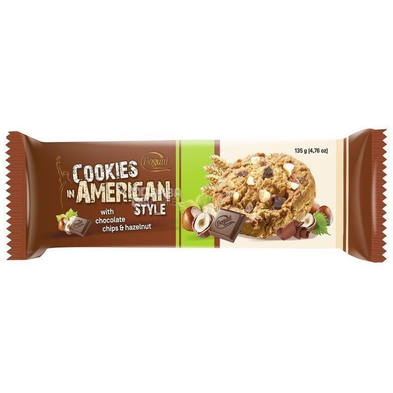 Печенье с шоколадом и орехами, 135 г, ТМ Bogutti