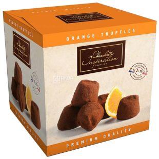 French truffles with orange zest, 200 g, TM Chocolate Inspiration