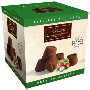 French truffles with hazelnut pieces, 200 g, TM Chocolate Inspiration