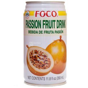 Foco, Passion fruit, 0,35 л, Фоко, Напиток соковый, Маракуйя, ж/б