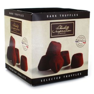 Трюфели французские с черного шоколада, 200 г, ТМ Chocolate Inspiration