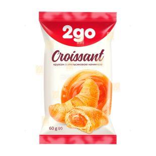 Круасан з апельсиновою начинкою, 60 г, ТМ 2go