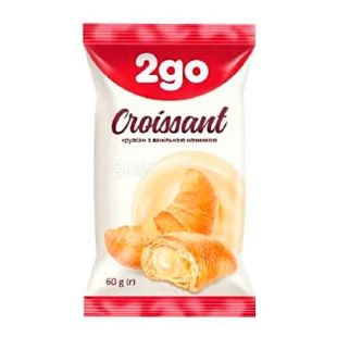 Croissant with vanilla filling, 60 g, TM 2go