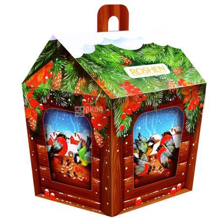 Roshen Кормушка для птиц, Новогодний набор конфет, 949 г
