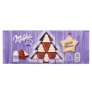 Milka Елочка, Шоколад фигурный новогодний, 100 г