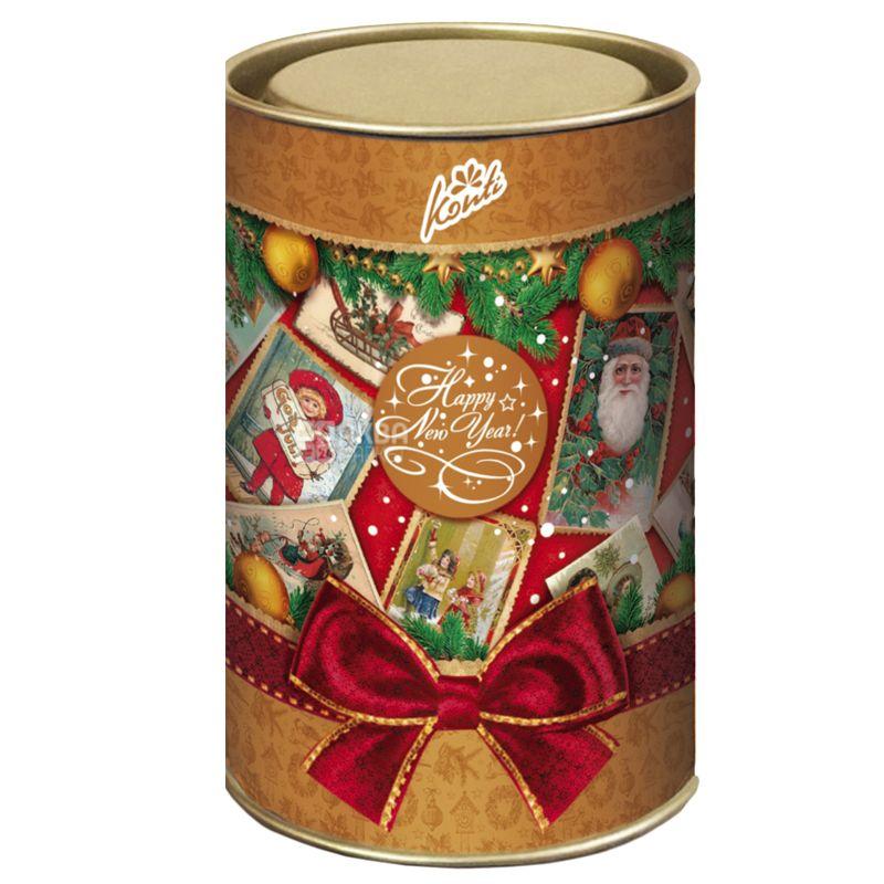 Konti Снежные узоры, Новогодний набор конфет, 251 г, тубус