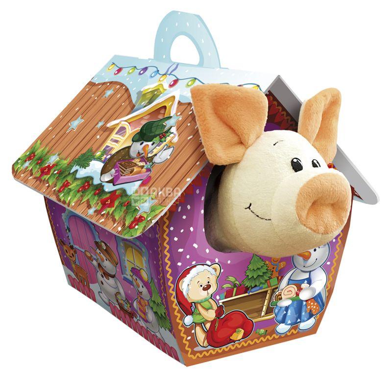Konti Веселая свинка, Новогодний набор конфет, 252 г