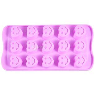 Fissman, Форма силиконовая, для льда и шоколада, сердечки, 21х10,5х7 см,