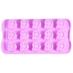 Fissman, Silicone form, for ice and chocolate, hearts, 21x10.5x7 cm,