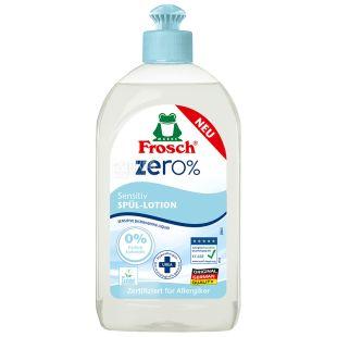 Frosch Zero Sensitiv, Бальзам для миття посуду, 500 мл