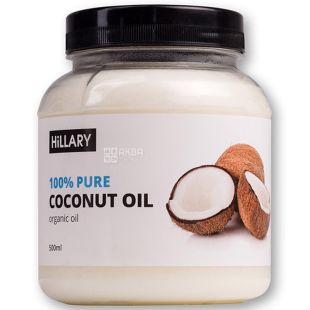 Hillary, Кокосовое масло рафинированное, 500 мл