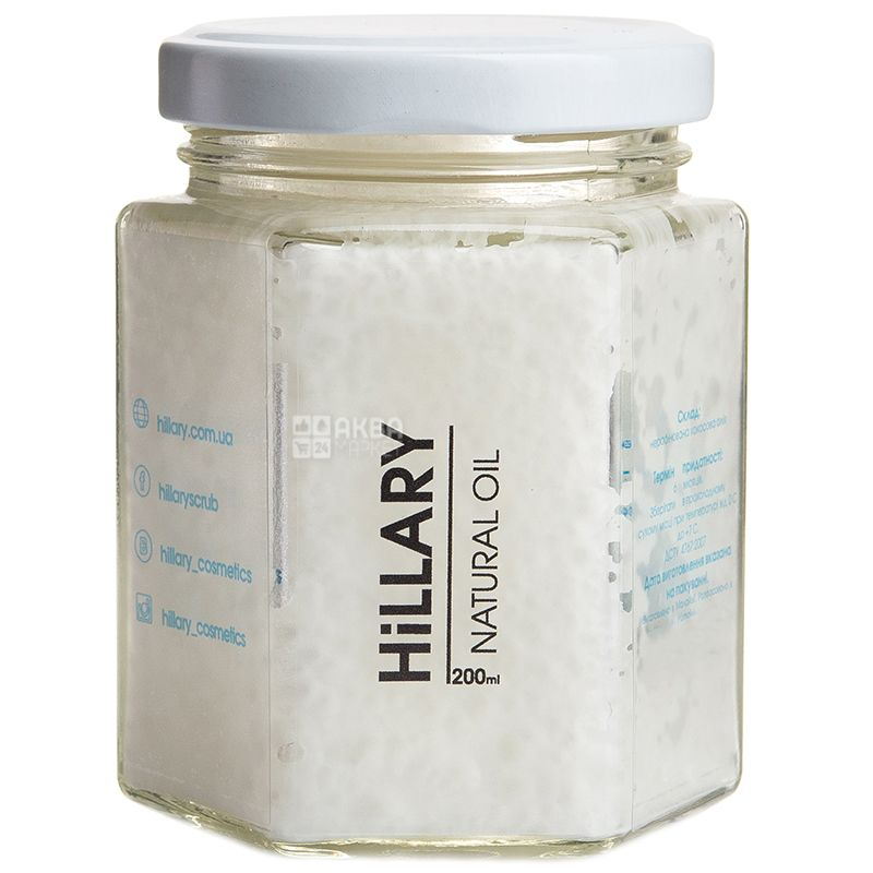 Hillary Virgin Coconut Oil, Нерафинированное кокосовое масло, 200 мл