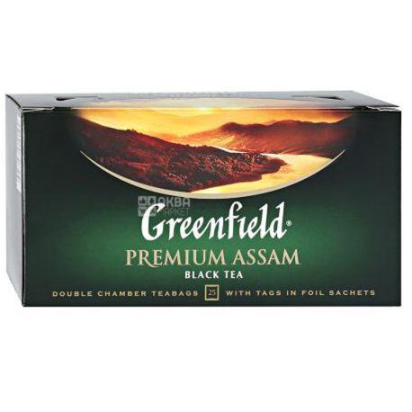 Greenfield, Premium Assam, 25 пак., Чай Гринфилд , Премиум Ассам , черный