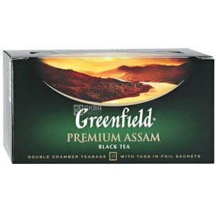 Greenfield Premium Assam, Black Tea, 25 Tea Bags
