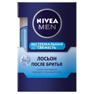 Nivea, Лосьон после бритья, Экстремальная свежесть, 100 мл