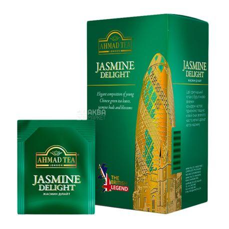 Ahmad Tea Jasmine Delight, 25 пак, Чай зеленый Ахмад Ти Жасмин Делайт