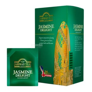 Ahmad Tea Jasmine Delight, Green Tea, 25 Tea Bags