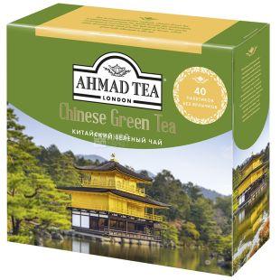 Ahmad Tea Chinese Green, 40 пак, Чай зеленый Ахмад Ти Чайнес Грин, Китайский