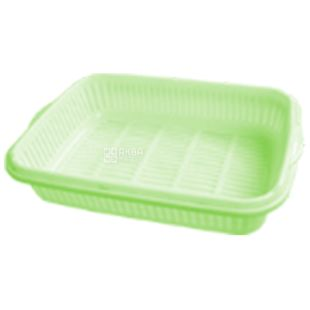 Tray for fruits and dishes with a tray, lime, 265x190x55 mm, TM Krion Plus