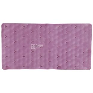 Bath mat, anti-slip, silicone, 700x380 mm, pink, TM Kryon Plus
