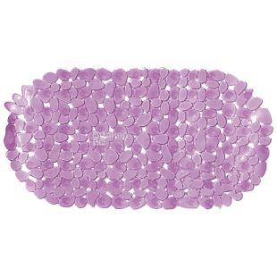 Килимок для ванни, протиковзаючий, силікон, 690х360 мм, рожевий, ТМ Кріон Плюс