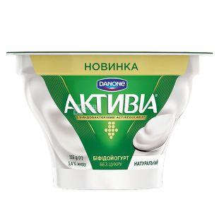 Активиа, Натуральный йогурт 3,4%, 135 г