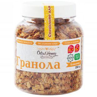 Oats & Honey, 250 г, Гранола Оетс енд Хані Класична, мед, вівсяні пластівці