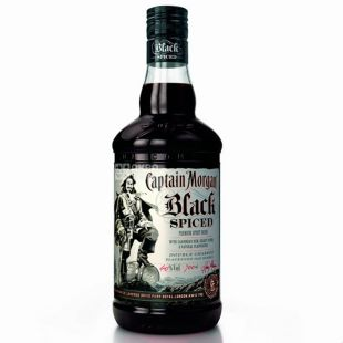Captain Morgan Spiced Black, Ром черный, 40%, 0,7 л