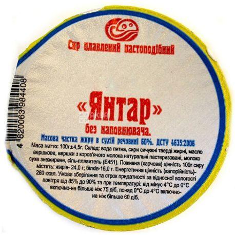 Янтарь, Сыр плавленый, Пастообразный, 60%, 100 г