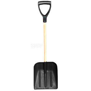Krion Plus, Лопата автомобильная для уборки снега, дерево, пластик, металл, черная, 89 см