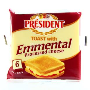 President Emmental, Плавленый сыр, 40 %, 120 г