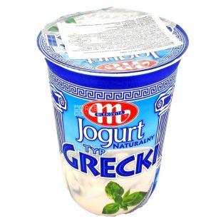 Йогурт греческий, натуральный, 9%, 400 г, ТМ Mlekovita