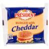 President Cheddar, Плавлений сир для бургерів, 40 %, 200 г